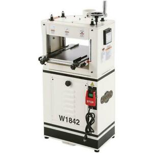 Shop Fox W1842 13 Inch 1.5 HP Woodworking Planer Moulder with 4 Inch Dust Port
