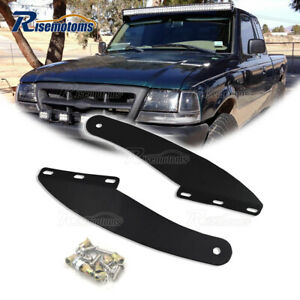For 1993 2011 Ford Ranger 50 Curved Light Bar Over Windshield Mounting Brackets $29.75