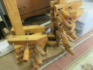 "2 Antique Jorgensen 8"" Wood Clamps, Very nice conditon, Low BIN, 12 pr available"