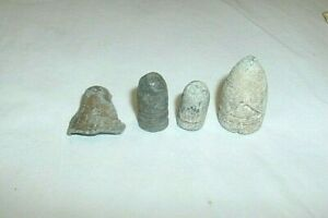 3 ANTIQUE LEAD CIVIL WAR BULLETS, LEAD FRAGMENT,DUG IN CHATTANOOGA