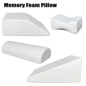 Memory Foam Knee Leg Elevation Wedge Bed Pillow Cushion Back Support Aid w/Cover