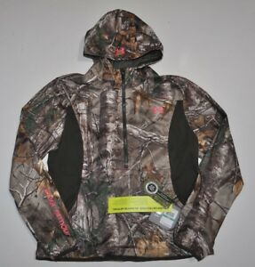 UNDER ARMOUR WOMEN'S LARGE EARLY SEASON SPPED FREEK CAMO HUNT HOODIE NWT