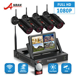 ANRAN 2.0MP HD CCTV Wireless Security IP Camera System 1080P Outdoor 1TB 4CH NVR