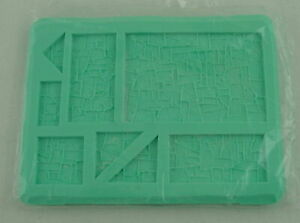 Hirst Arts #252 Rubble Panel Fantasy Miniatures Silicone Mold