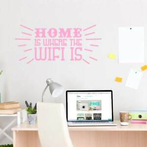 Home Is Where The Wifi Is Wall Decal 48-inch wide x 22-inch  Large