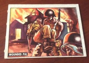 1950 Topps Freedoms War Trading Card #138 Wounded Pal