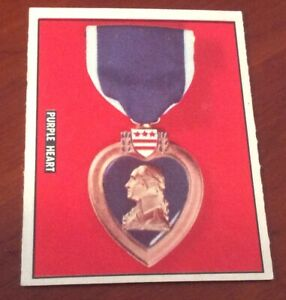 1950 Topps Freedoms War Trading Card #192 Purple Heart