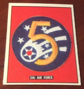 1950 Topps Freedoms War Trading Card #185 5th Air Force