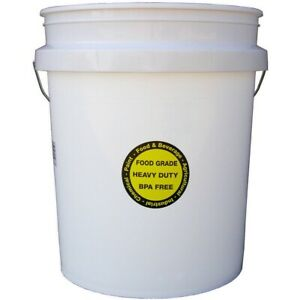 5 Gallon All Purpose Bucket with Lid Commercial Food Grade Durable Plastic Pail