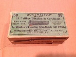 Winchester 44-40 2 piece box with green label - Empty