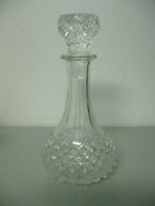 Vintage Crystal Decanter Colleen Pattern Diamond Hobnail with Stopper