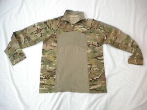 US ARMY MULTICAM ARMY COMBAT SHIRT TYPE II 1/4 ZIPPERED COMBAT SHIRT SIZE LARGE