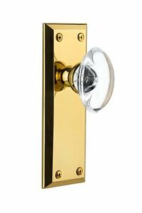 Grandeur Fifth Avenue Plate with Provence Crystal Knob, Privacy - 2.375