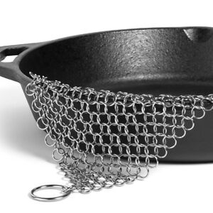 US Ringer Stainless Steel Big Chain Mail Cast Iron Skillet Cleaner Scrubber
