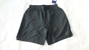 ASICS 2-IN-1 7 INCH MENS RUNNING SHORTS SIZE S SMALL - BLACK