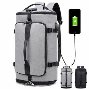 Business Backpack USB Charging Anti Theft Laptop College School Bag Daypack Men