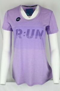 New Brooks Women's Pacesetter Tee T-Shirt Size Medium Digital Run Heather Lilac