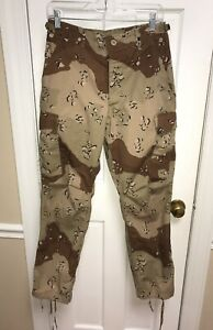 US Military Desert Camouflage Pattern Combat Trousers Chocolate Chip Size S/S
