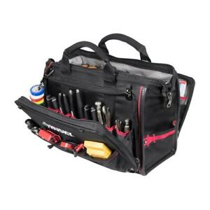Husky 18 In. Tech Tool Bag Heavy Duty Storage Organizer Large Water Resistant