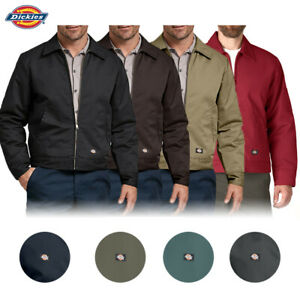 Dickies Men#x27;s TJ15 Insulated Lined Quilted Eisenhower Zip Up Work Jacket $49.88
