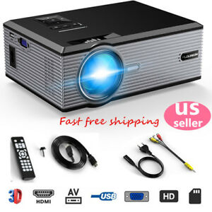 FULL HD 1080P LCD LED Projector Multimedia Home Cinema 5000LM VGA USB AV HDMI TV