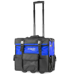 CONSTRUCTION HEAVY DUTY Rolling Tool Bag Tote With Pop Up 20quot; Handle Wheels