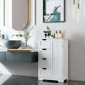 Bathroom Floor Cabinet Storage Organizer with 4 Drawers Free Standing Cabinet
