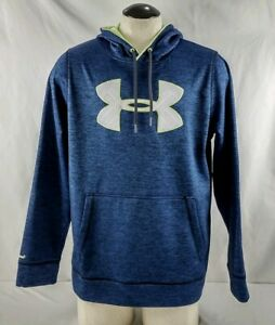 Men's Under Armour Storm Blue Pullover Hooded Sweatshirt Size L