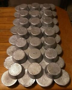 107 + Lbs. Clean Lead Ingots Cupcake Rounds AS PICTURED 53 Count Bullet Making