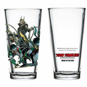Dark Nights: Metal The Batman Who Laughs with Robin Minions Pint Glass Clear $21.98