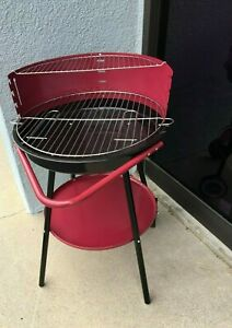 BBQ Charcoal Grill  Portable Wheels Summer Cooking Outdoor Camping Park New