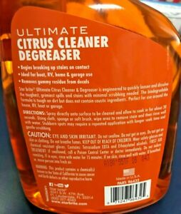 Starbrite Ultimate Citrus Cleaner amp; Degreaser 32 Ounce Remove Grime Dirt Grease