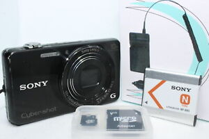 Sony Cyber-Shot DSC-WX220 18.2MP Digital Camera - Black W Battery Charger SD