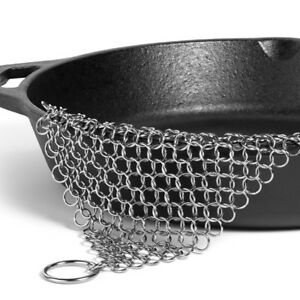 Ringer Stainless Steel Big Chain Mail Cast Iron Skillet Cleaner Scrubber US
