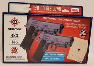 Crosman 1911 Double Down Semi-Auto  BB & CO2 Air Pistol Dual Competition Kit New