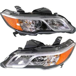 Headlight Set For 2013 2014 2015 2016 Acura RDX Left and Right With Bulb 2Pc $366.14