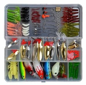 119 Pc Fishing Lure Tackle Kit Set W Box For Ocean River Lake FreshSalt Water