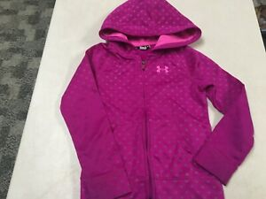 UNDER ARMOUR   POLKA DOT ZIP HOODIE  GIRLS  SZ   6  6X