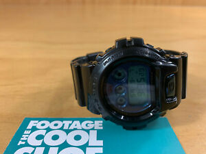 STUSSY CASIO G-SHOCK 30TH ANNIVERSARY MEN'S DIGITAL WATCH DW-6900ST BLACK BLUE