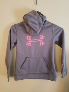 Under Armour Hoodie Girls Small - Gray & Pink - Made in the USA
