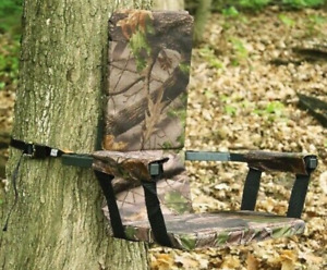 Summit Tree Stand Hunting Seat Camo Hunt Padded Backrest Camouflage Portable New