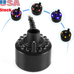 12 LED Lights Ultrasonic Mist Maker Water Fountain Pond Atomizer Humidifier