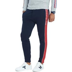 Tommy Hilfiger Mens Navy Striped Casual Sweatpants Big & Tall 3XLT BHFO 5795
