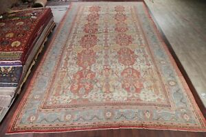 Pre-1900 Antique VEGETABLE DYE Sultanabad Oushak LARGE Rug Hand-Knotted 14'x23'