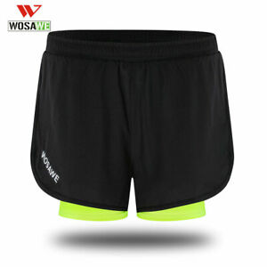 Men's Running Shorts Exercise Jogging Sports Shorts with Longer Liner Breathable