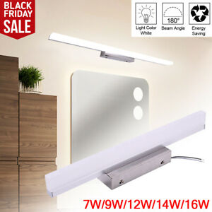 Modern Stainless Steel LED Bathroom Light Front Vanity Makeup Wall Light US