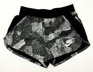 Women's Nike Fitness Running Track Shorts Women's Small Black and White Speckled
