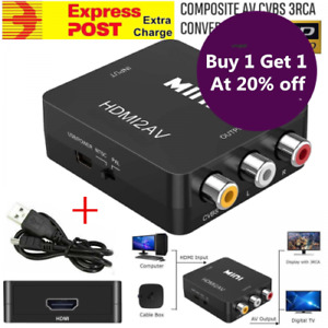 1080P Mini HDMI To RCA Audio Video AV CVBS Composite Converter Adapter For TV