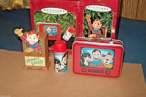 Hallmark Lot Howdy Doody Lunch Box Thermos & Anniversary Edition Ornaments