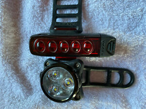 Lezyne frontrear lights. Front zecto 250 Rear Strip Pro 300
